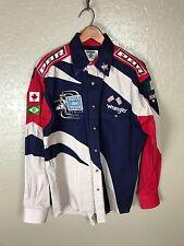 Wrangler PBR FORD Rodeo Shirt LARGE Cowboy Men L Bull Riders Las Vegas