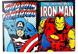 Marvel-Comics-HULK-IRON-MAN-THOR-CAPTAIN-AMERICA-Notebook-2-pc-Set-NEW