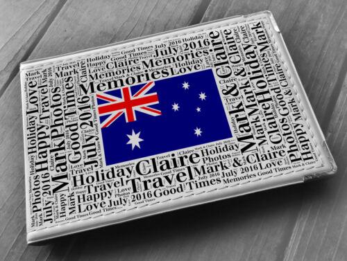 libro de memoria viajes de vacaciones Australia Personalizado de imitación de cuero foto álbum