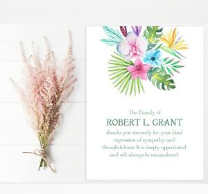 image is loading sympathy acknowledgement cards funeral thank you notes personalized - Personalized Funeral Thank You Cards