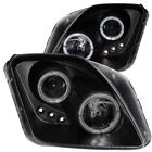 Headlight Assembly-Projector with Halo Clear Lens LED Black Left,Right Anzo