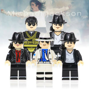 King of Pop Figure For Custom Lego Minifigures Michael
