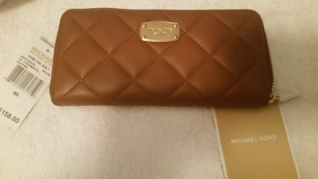 ff53374f48ae Michael Kors Hamilton Quilt Zip Around CONTINENTAL Leather Wallet 38s2chqz3l