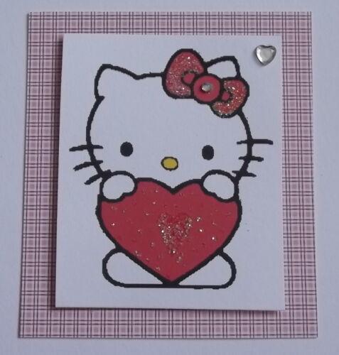 PK 3 San Valentín Kitty ADORNO TOPPERS PARA TARJETAS