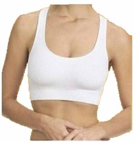 Soutien Gorge Sans Couture Grande Taille 105 à 155 Coussinet Amovible Blanc Noir