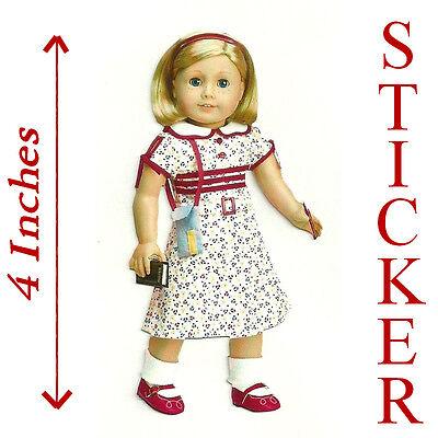 "4/"" HIGH~REPORTER DRESS STICKER AMERICAN GIRL KIT PARTY FAVOR~STOCKING STUFFER"