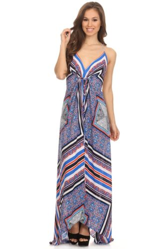 Summer Rubber Ducky BOHO PRINT MAXI DRESS made in US
