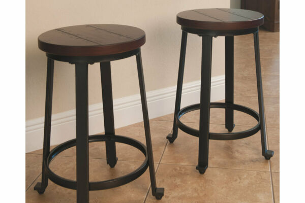 Ashley Furniture Signature Design - 2 Challiman Bar Stools - Counter Height For Sale Online