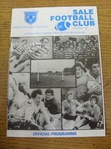 11-12-1982-Rugby-Union-Programme-Sale-v-Waterloo-Northern-Merit-Game-team-ch
