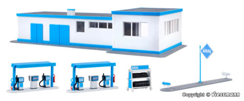Kibri h0 38541-Aral gasolinera mercancía nueva Kit