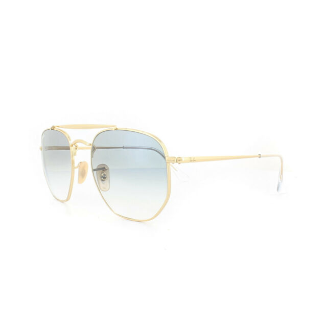 368d3a15a8 Ray-Ban The Marshal Sunglasses in Gold Gradient Blue Rb3648 001 3f ...