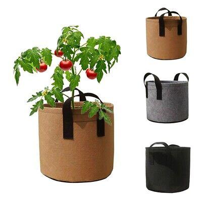 Felt Planting Bag 3//4//6//8 Pocket Pot Planting Container Strawberry Grow Bags