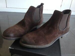 Boots à élastique, Beatles, Fratelli Rossetti, T45 T11, Nubuck marron, Neuves
