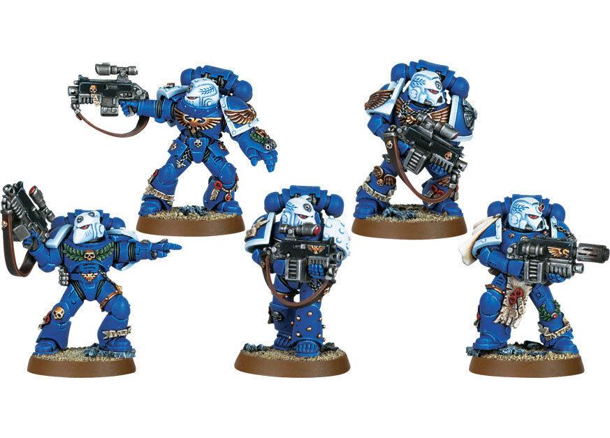 Warhammer 40k spazio  Marine Sternguard Veteran Squad Metal completare OOP scatola  nuovo stile