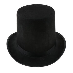 scegli ufficiale prezzo folle pacchetto alla moda e attraente Dettagli su Cappello cilindro cilindro magico colore nero mago