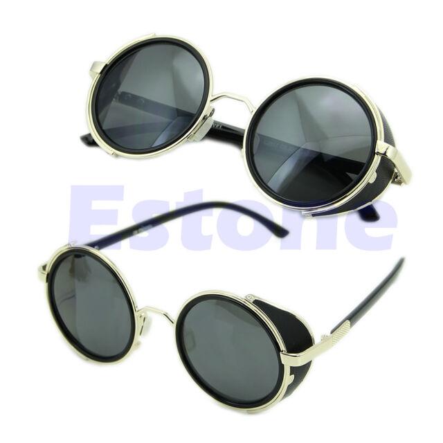 Cyber Goggles Vintage Retro Blinder Steampunk Sunglasses 50s Round Glasses