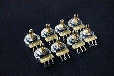 8 X CTS B500K/Short(pickguards) B Type(Linear Taper) Brass Shaft Linear pots