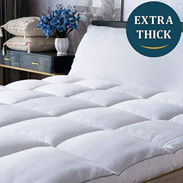 Mattress Topper King Size Cooling Plush Pillow Top ...
