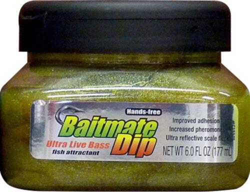 New Baitmate Fish Attractant 6 oz Dip Jar Live Bass 552
