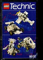 Lego--8022-- Bauanleitung--Technic-- Top--Betriebsanleitung--