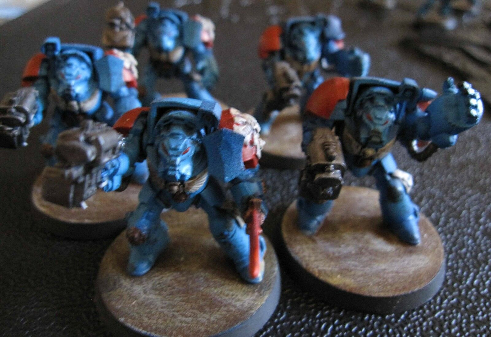 40K Space Space Space Marines Terminator Squad painted 3c3dc1