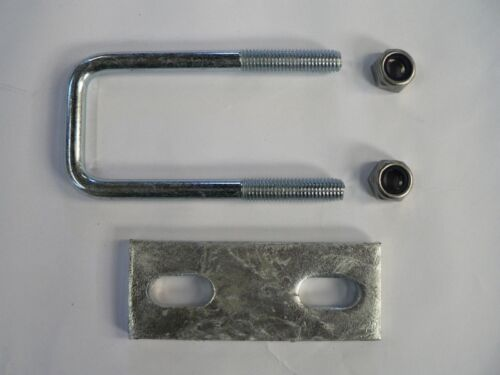 M10 Square U-bolt u bolt for Boat trailer 40 x 105 x 10mm with Nylocs and Plate