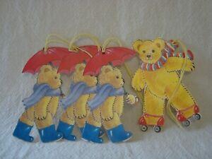 4 Teddy Bear étiquettes- étiquettes-Cadeaux- TEDDY BEARS PICNIC- Toppers- Parti Décoration- Kids-- Party Decoration- Kidsafficher le titre d`origine qvV6wHPl-07202816-710135744