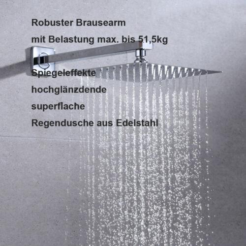 JOHO Kopfbrause Regendusche Duschkopf Brausekopf aus Edelstahl poliert