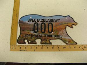 Northwest-Territories-Polar-Bear-License-Plate-SAMPLE-DEMPSTER-HIGHWAY-000-MINT