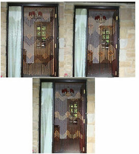 Bamboo Beaded Wooden Door Curtain Glamorous Blind Fly Screen