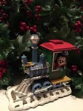 DISNEY Mickey Mouse As The Engineer Christmas Train Village Figure RARE