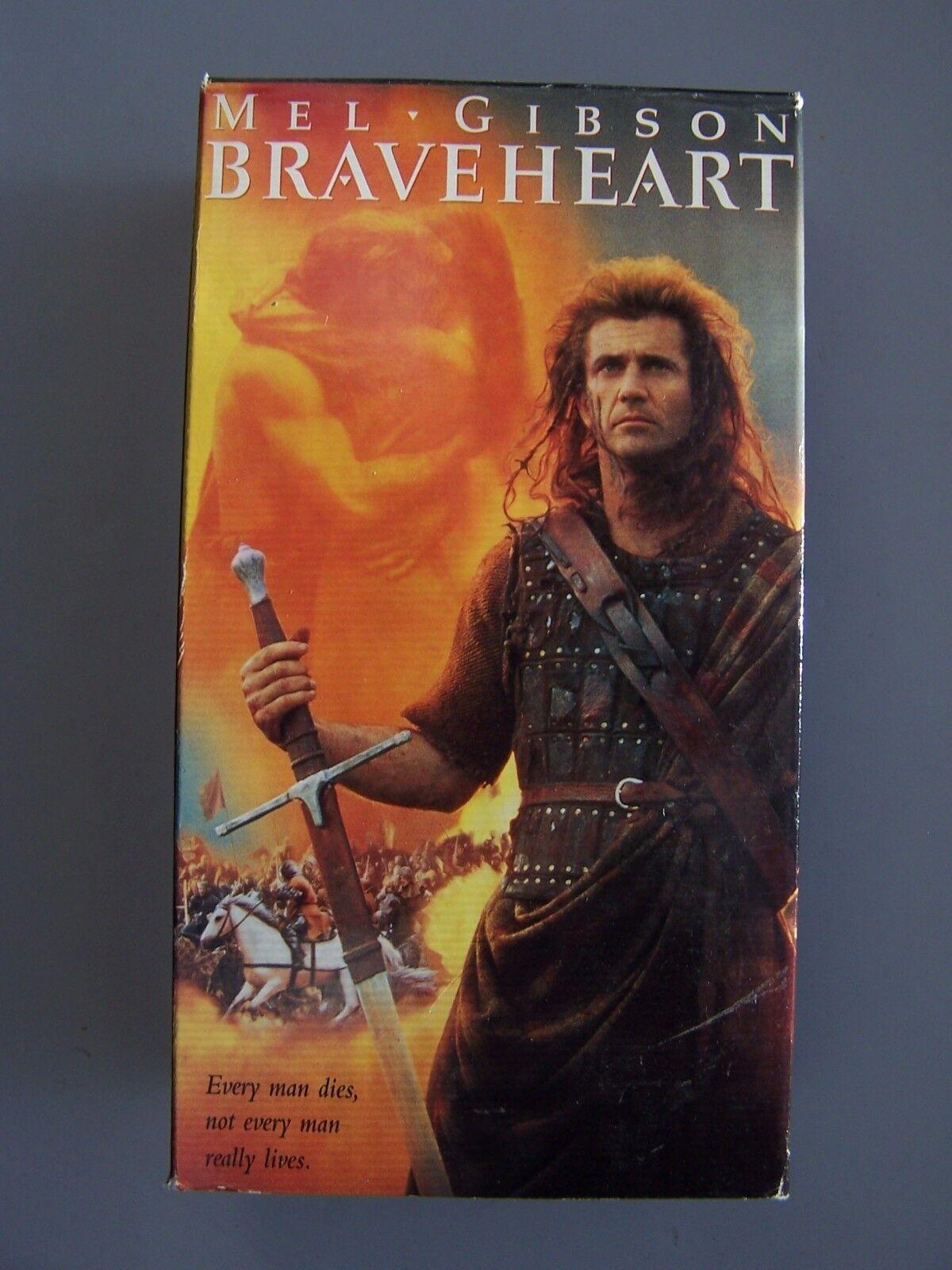Braveheart (VHS, 1996, 2-Tape Set) Video Tape Mel Gibso