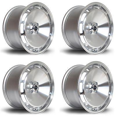 "4 x Rota D154 Silver Polished Face Alloy Wheels - 16x8""|ET20|4x108 PCD|73mm CB"