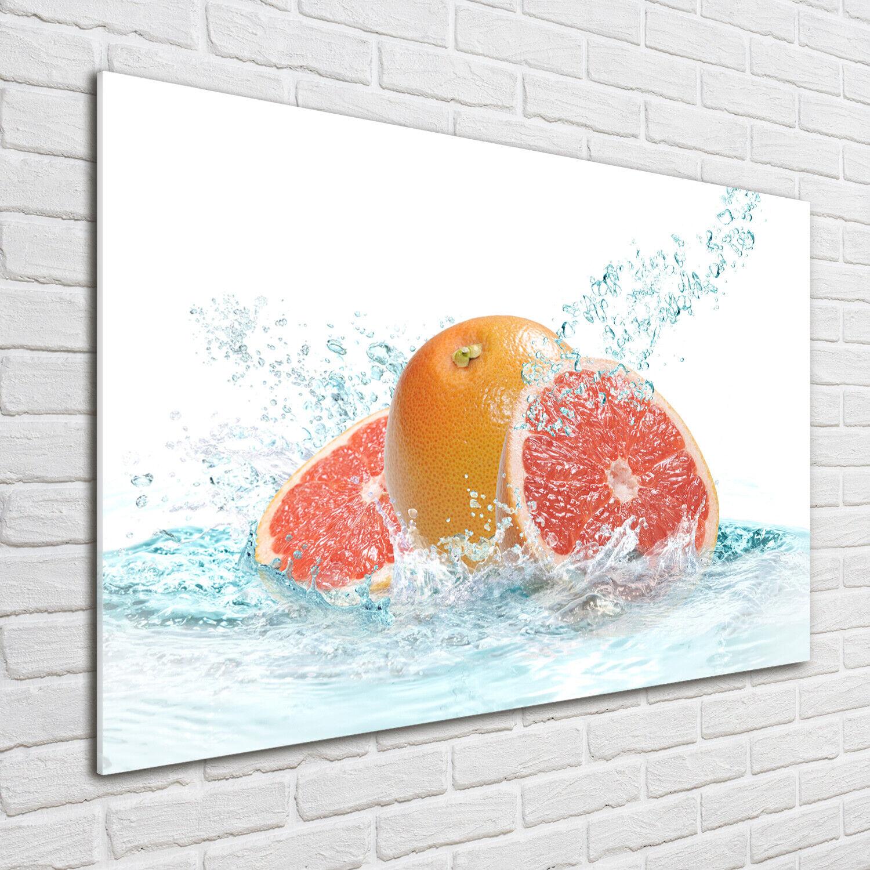 Wandbild aus Plexiglas® Druck auf Acryl 100x70 Essen & Getränke Grapefruit