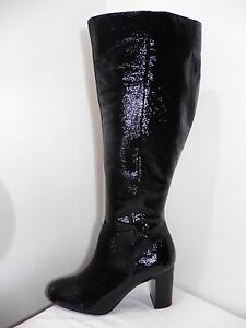 Dune-Sandler-Black-Patent-Leather-Round-Toe-Boots-Size-7-NEW-RRP-150