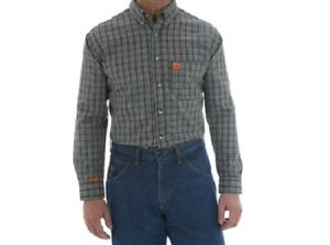 2ff7c115 Image is loading WRANGLER-RIGGS-WORKWEAR-FLAME-RESISTANT-FR-SHIRT-CHOCOLATE-