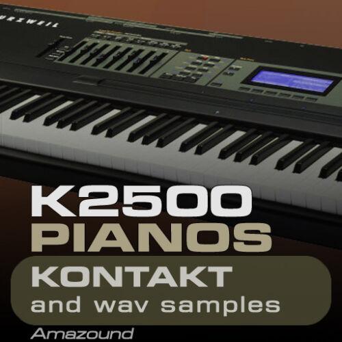 Kurzweil K2500 K2600 pianos kontakt 35 Nki 728 wav samples 24BIT Top download