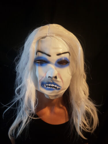 White Halloween Mask Fangs Costume Fancy Dress Party Horror Masquerade