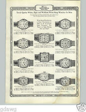 1927 PAPER AD Illinois Tivoli Quality Wrist Watch Elgin 14K Gold