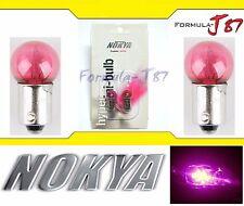 Nokya Light Bulb BA9s G14 Pink 8W Nok5078 Interior Signal Corner Gauge Panel