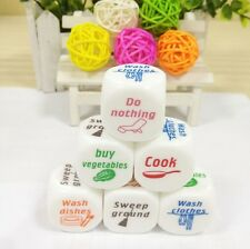 1Pc Funny Chores Housework Dice Game Die Houshold Decides Kids Toy Fun Families