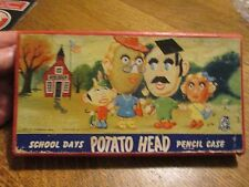 1953 SCHOOL DAYS POTATO HEAD PENCIL CASE BOX BY HASBRO