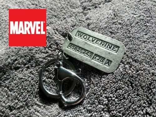 Wolverine Logan dog tag keychain X-MEN Full metal Comic Collectible cosplay USA