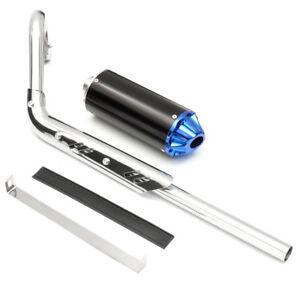 Pit-Dirt-Bike-blu-prestazioni-CNC-sistema-di-tubo-di-scarico-marmitta-110cc-125c