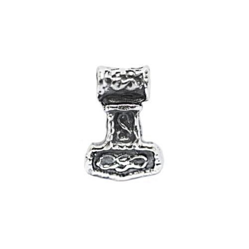 Colgante pequeño Acton Thor Hammer 925er Sterling plata pelo perla 6971