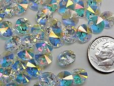 144 PIECES SWAROVSKI CRYSTAL PENDANTS/BEADS #6428 - 8MM - CRYSTAL TRANSMISSION