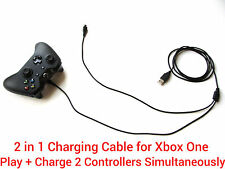 2 in1 1.8M long USB charging charger + play cable lead for Xbox One Controller