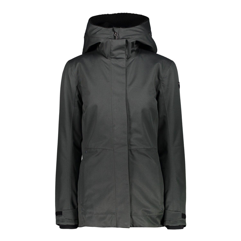 CMP Giacca Giacca donna MID Jacket Fix Hood verde Scuro vento di tenuta