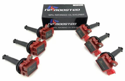 2003-06 XC90 2.8L 2.9L New 6 Pcs Pack Ignition Coil Set For Volvo 1999-06 S80