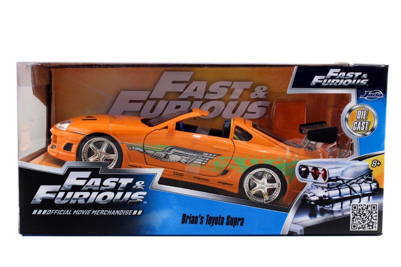 JADA 97168 THE FAST AND FURIOUS BRIAN'S TOYOTA SUPRA 1 24 DIECAST CAR orange